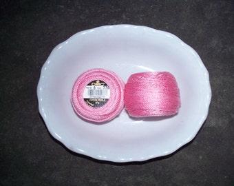 DMC Perle Cotton 8 Pinks