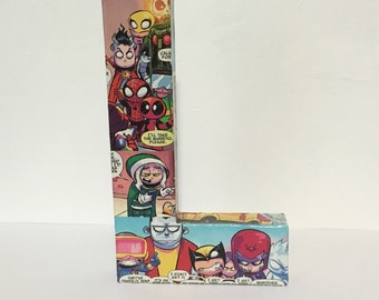 Little Marvel Letter L, Medium Comic Book Letter 8 Inch, Pop Art, Ready To Ship