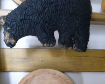 Primitive Folkart Grizzly Bear Hooked Rug  PATTERN ONLY Rue23paris