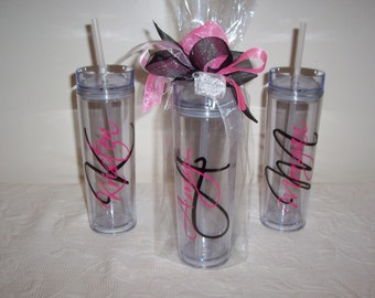 Personalized Skinny Acrylic Tumbler GIFT WRAPPED