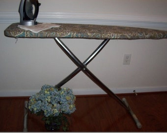 Custom Ironing Board Cover Chocolate Aqua Paisley