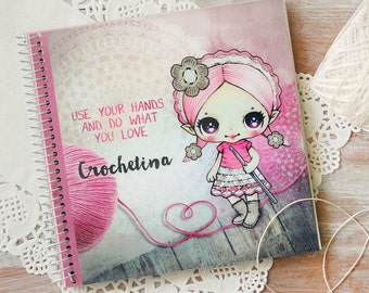 Crochetina - notebook - made to order