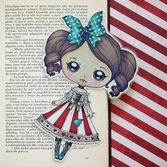 Doll - Romantic Carnival - bookmark - made to order