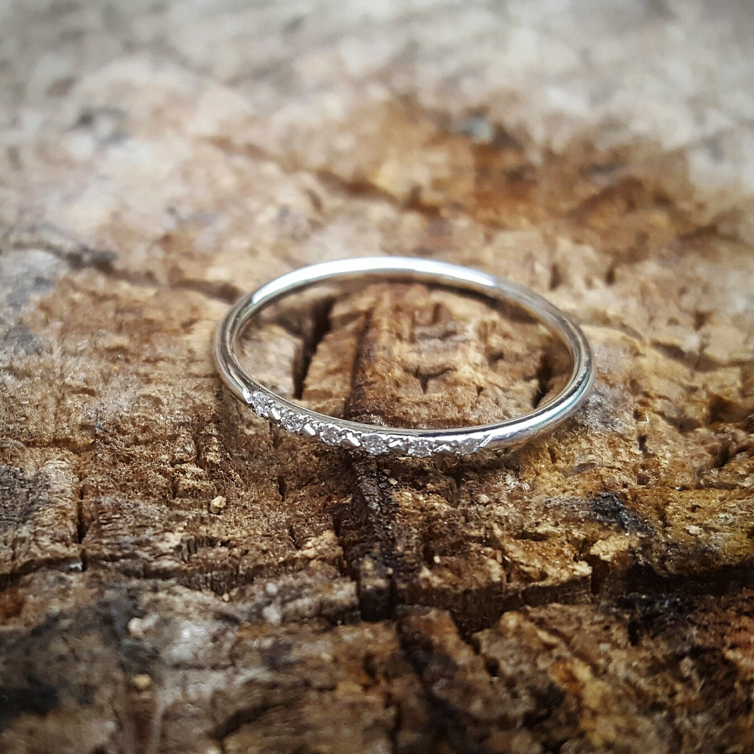 White Gold Wedding Band Women Bands