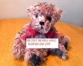 Artist Mohair Bear - Collectors Bear - 8 inch Bear - Made for Pud Bears - Rufus