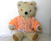 "RESERVED Vintage Bear - 13"" Mohair Bear - Chad Valley - 1960's Toy - English Teddy"