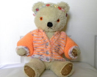 "Vintage Bear - 13"" Mohair Bear - Chad Valley - 1960's Toy - English Teddy"