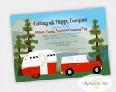 Camping Invitation | Birthday, Family Reunion, Retirement, Baby Shower, Vintage Trailer, Camper, Lake, Mountains, truck | Instant Download