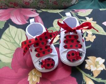 Ladybug Baby Sneakers, Baby Sneakers, Infant Sneakers