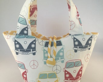 "Baby doll diaper bag ""Mommy & Me Set"" - Retro Bus"