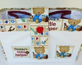Large Baby Bag Organizer, Daddy's Little Helper Teddy Bear Nursery, by Vic Von Pip