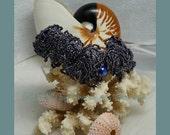 LoveU A Scuba Diver's Delight; bead woven netted ruffle bracelet