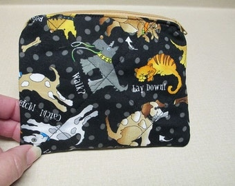 Dog Coin Purse, quilted