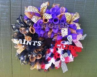 LSU/ULL/Saints Wreath