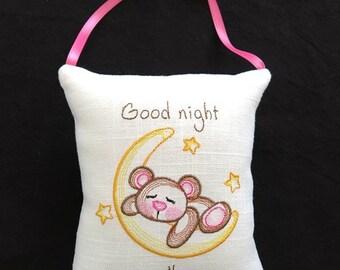 Good Night hanging pillow