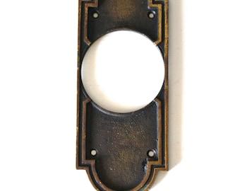 Eschtcheon Door Plate, Vintage Dead Bolt Plate, Door Knob Plate