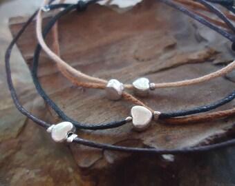 HEART friendship bracelet - so delicate bracelet (1137)