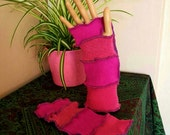 Arm warmers with a low wool content upcycled by Niknok