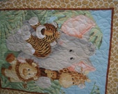 Baby Zoo Animals Panel Quilt