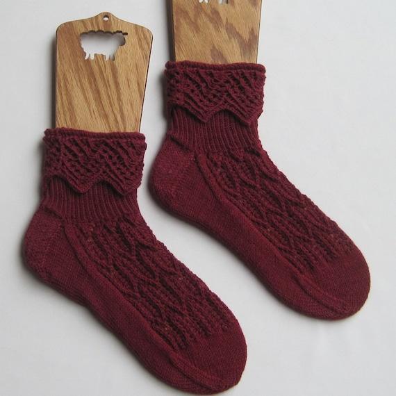 Knitting Pattern For Fancy Socks : Knit Sock Pattern: MuckleRow Fancy Cuffed Sock Pattern ...