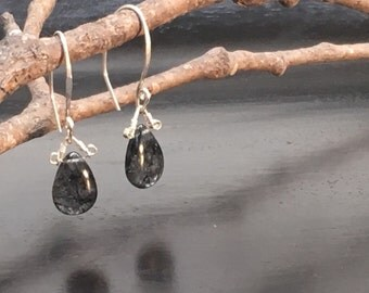Rutilated Quartz and Hand Forged Silver by JeanineDesigns
