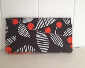 Fabric Checkbook Cover with Pen Holder