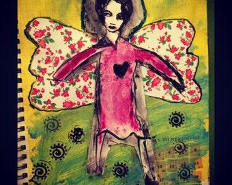 Mixed Media:  Angel Art