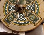Green & Gold Celtic Resin Skull