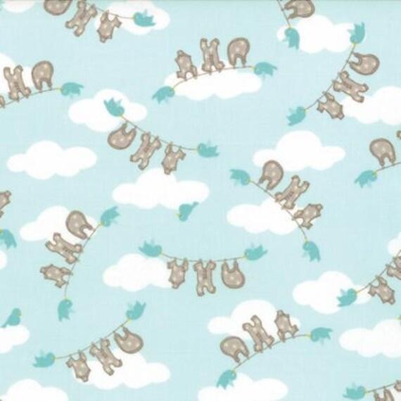 Moda story book aqua 13113 15 kate birdie childrens for Childrens fabric sale