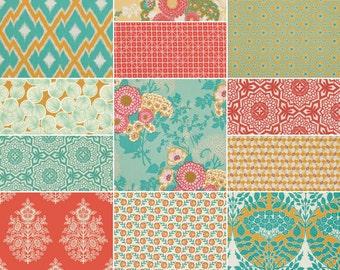 HALF YARD Bundle (Golden Hour palette)  - BOTANIQUE - Joel Dewberry  - Free Spirit Fabric - 12 pcs