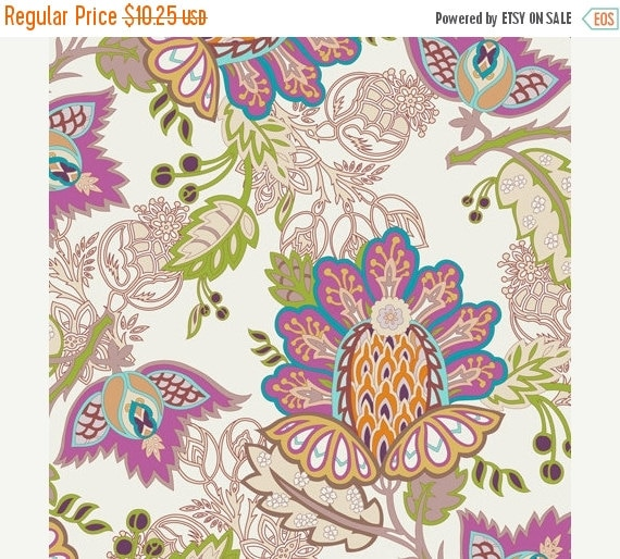 SALE - Exotic Flora Rich (BA-400) - BAZAAR Style -  Patricia Bravo for Art Gallery Fabrics - By the Yard