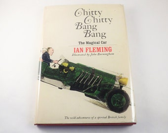 Chitty Chitty Bang Bang Book, Vintage 1960s Childrens Fairytale Book, 1964 First Edition Car Book Hard Cover with Dust Jacket