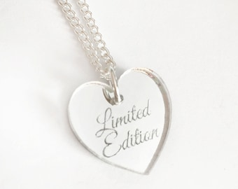Limited Edition Necklace - Silver Heart