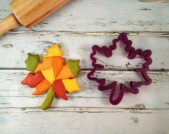 Fall Autumn Oak Leaf Cookie Cutter and Fondant Cutter and Clay Cutter