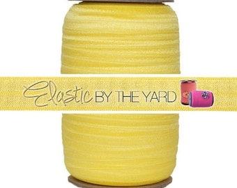 "Daffodil - 100 Yard Roll - Fold Over Elastic - 5/8"" Wide Bulk Wholesale FOE"