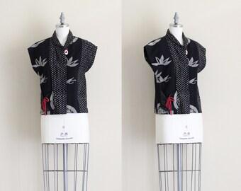 SALE - Womens Wrap Jacket . Vintage Japanese Coat . Vintage Womens Outerwear