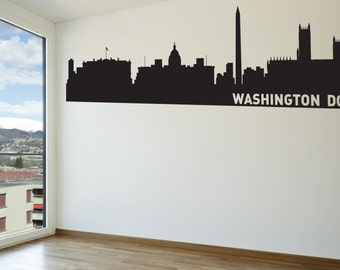 Washington Dc Wall Art dc skyline | etsy