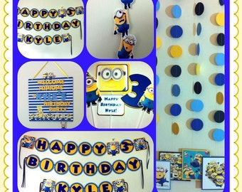 MINIONS Despicable Me- Deluxe Birthday Party Set