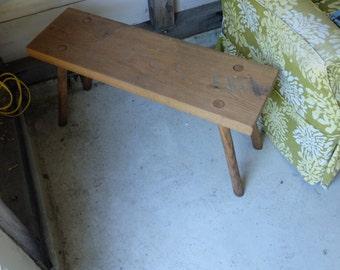 4 Custom Oak wood benches- reserved