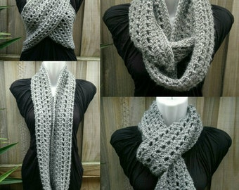 Infinity scarf grey - ready to ship