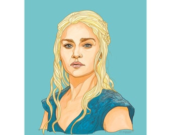 "DAENERYS 5x7"" GAME of THRONES limited edition print"