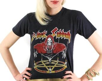 Vintage Black Sabbath Tee 80s Shirt Concert Tour Shirt Tour Tee