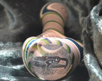 Your Favorite Sports Team Dichroic Image Pipe,  Color on the inside of clear (inside out)~You Pick The Colors and Team if available~Thick