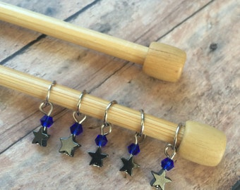 Astronomy Class Harry Potter Knitting Stitch Markers - set of 5