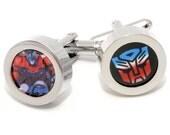 Optimus Prime Autobot Transformers Cufflinks - Cartoon Fashion Accessories - With Gift Box