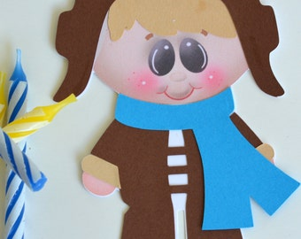Aviator boy craft kit for kids birthday party favor decoration arts and crafts stocking stuffer or scrapbooking