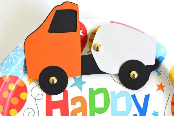 Cement truck vehicle craft kit for kids birthday party for Car craft for kids