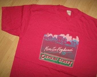 Clement Street Fair Tee - Vintage 1983 San Francisco Fogland USA T Shirt Large
