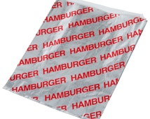24 Foil HAMBURGER Bags, Burger wrappers, Concession food bags, Carnival Party BabyQ, BBQ, Pool party, Picnic, Wedding, baby Shower, Birthday