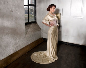 Art nouveau wedding dress Etsy